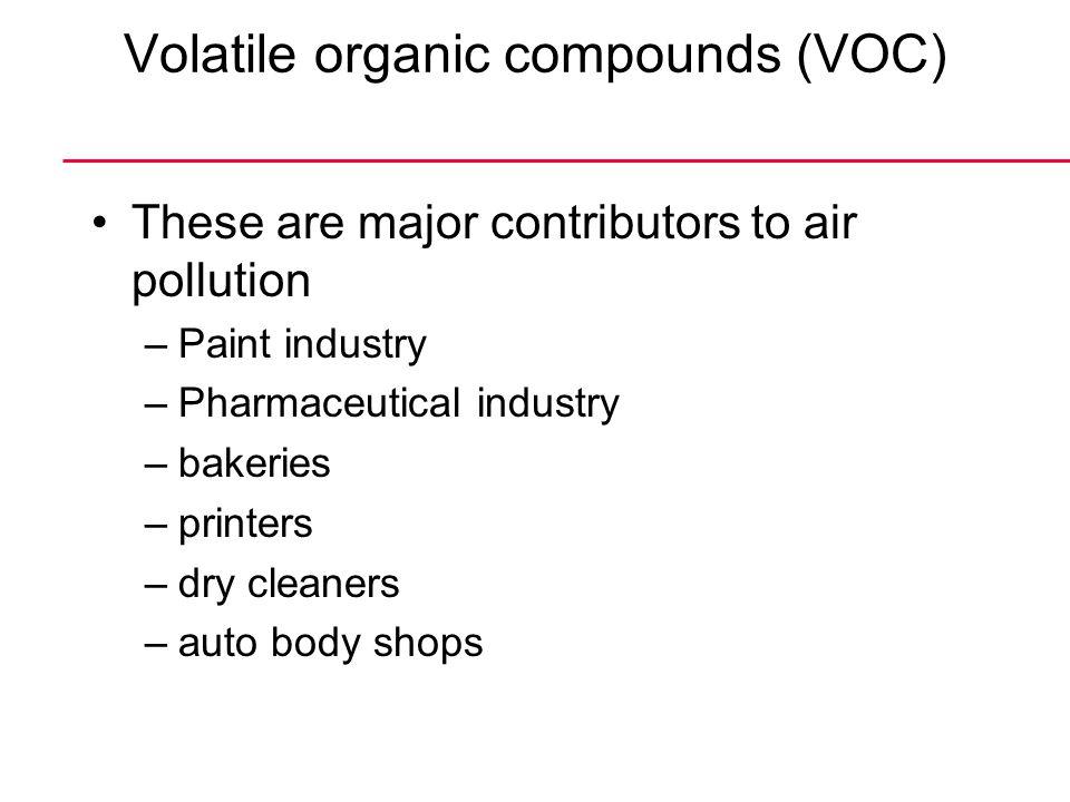 Volatile organic compounds (VOC)
