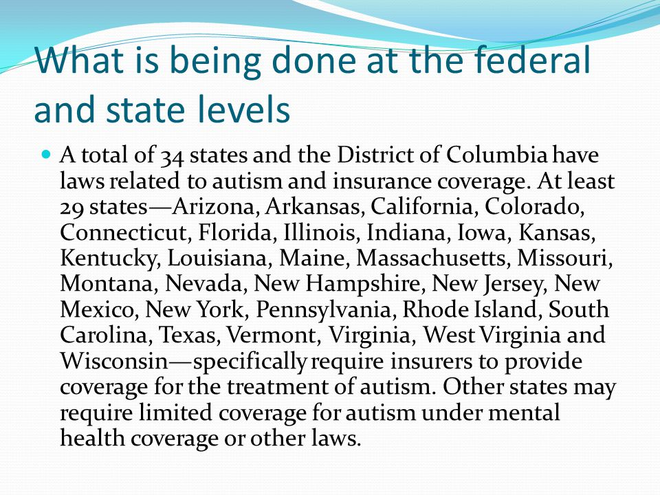 What is being done at the federal and state levels