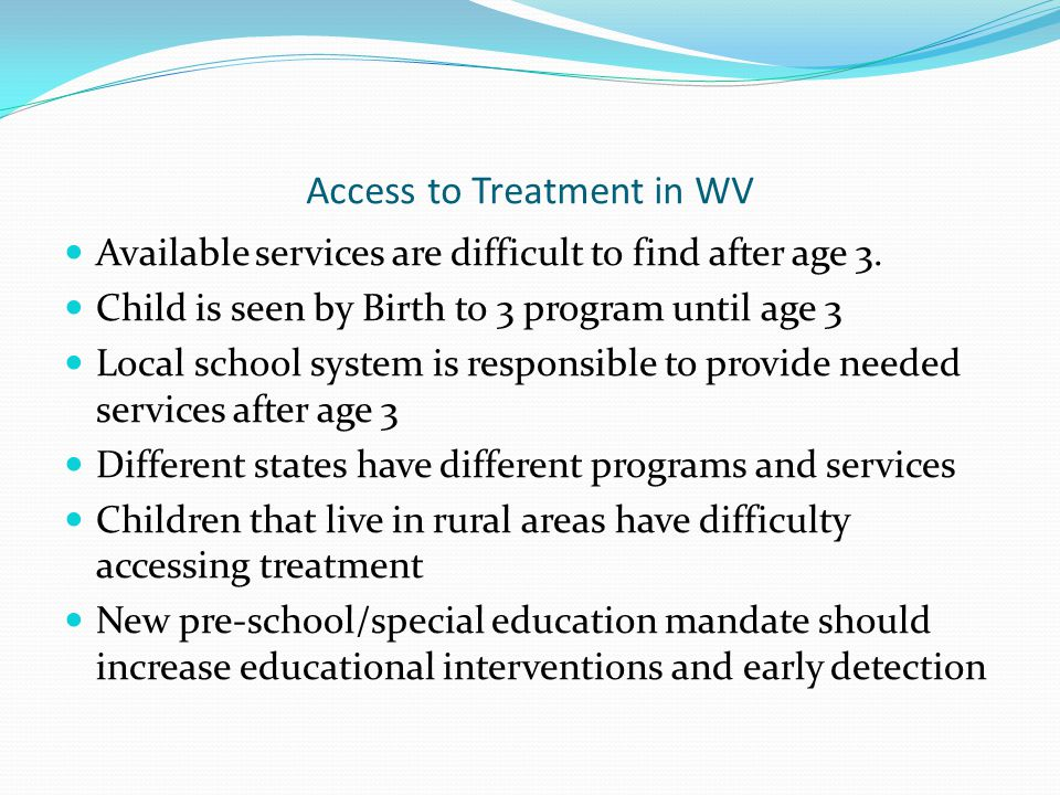 Access to Treatment in WV