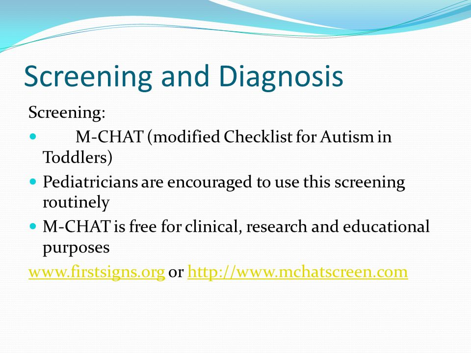 Screening and Diagnosis