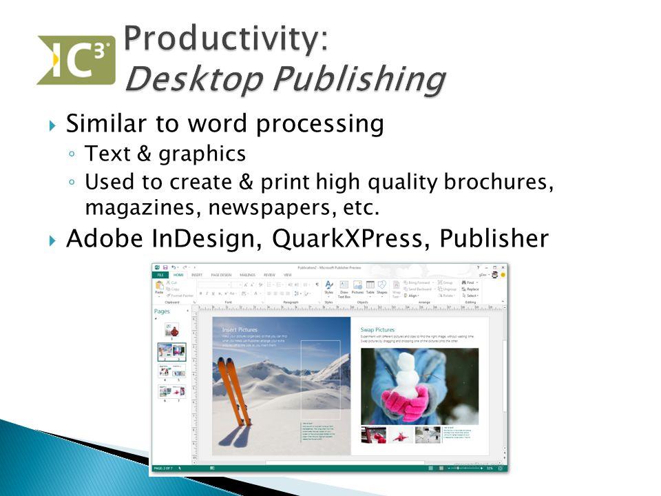 Productivity: Desktop Publishing