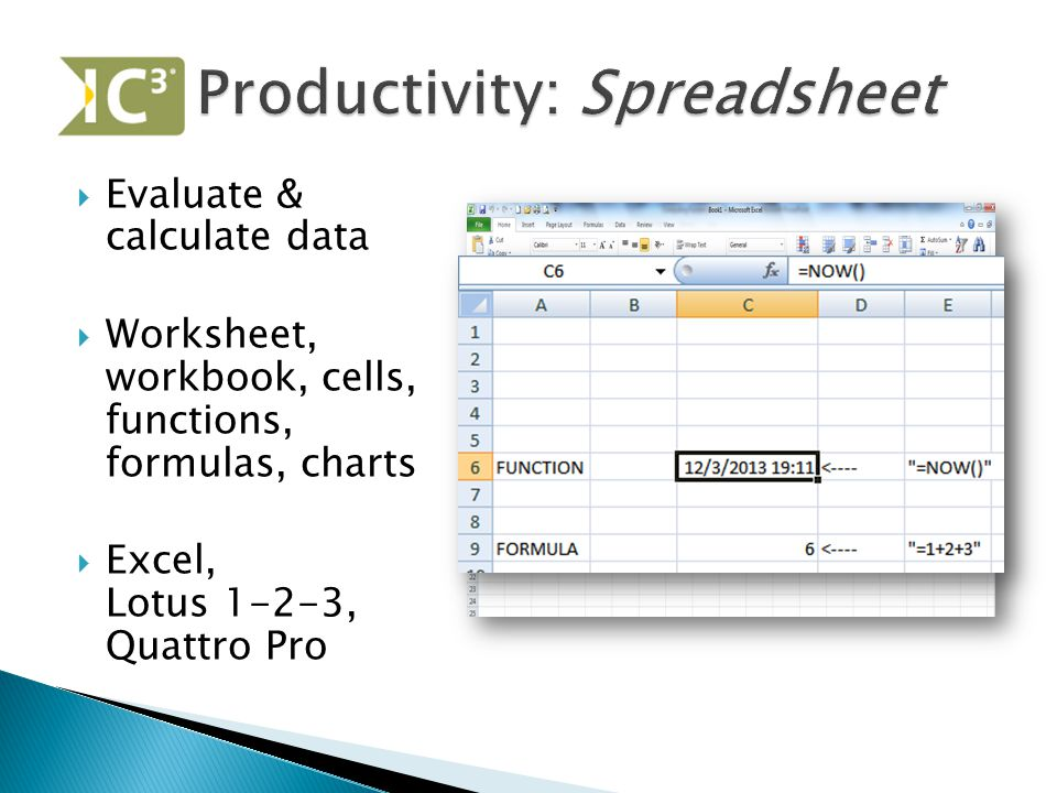 Productivity: Spreadsheet