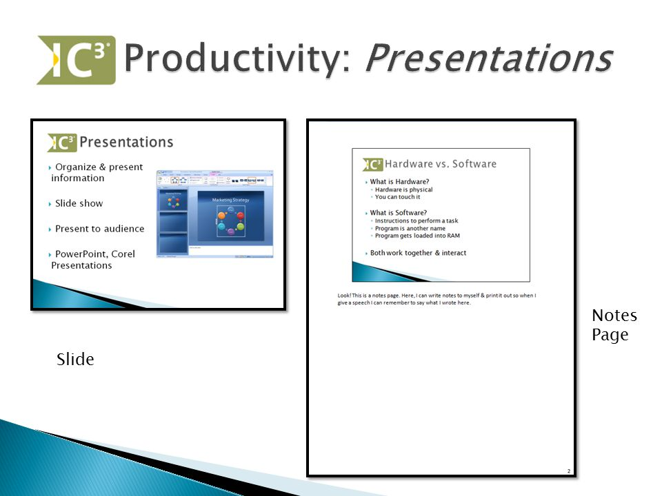 Productivity: Presentations