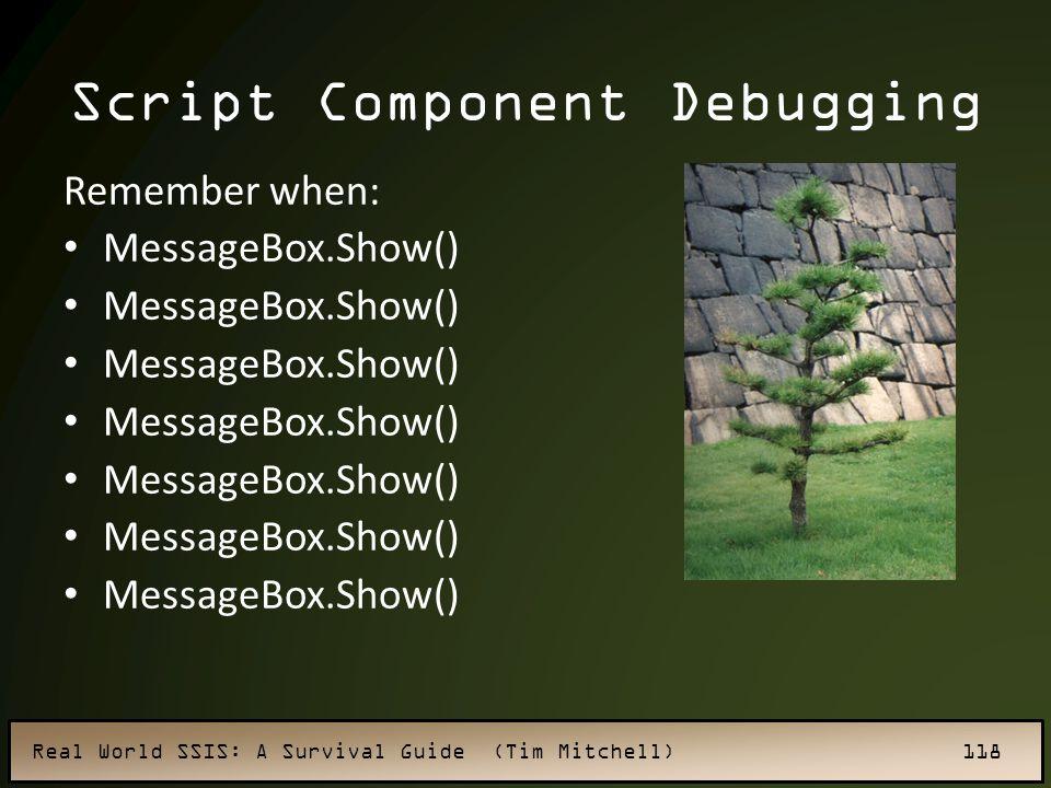 Script Component Debugging
