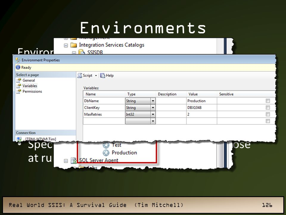 Environments Environment replace configurations