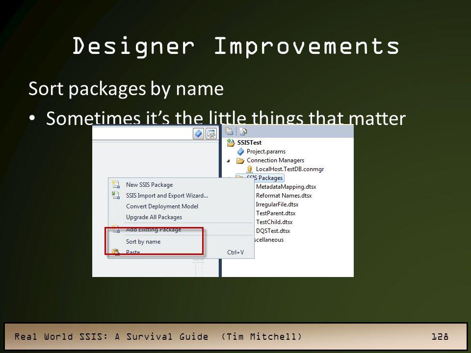 Designer Improvements