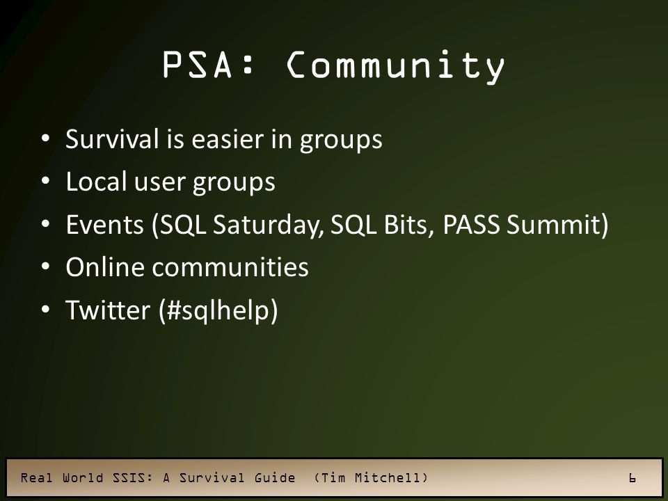 PSA: Community Survival is easier in groups Local user groups