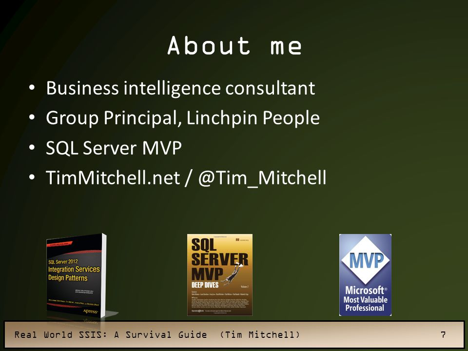 About me Business intelligence consultant