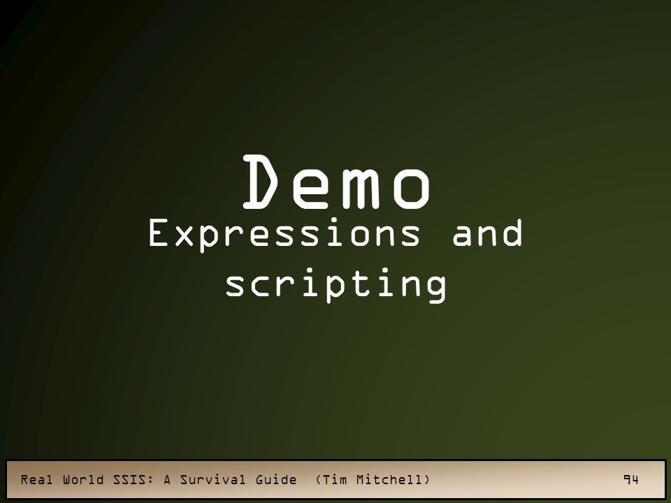 Expressions and scripting