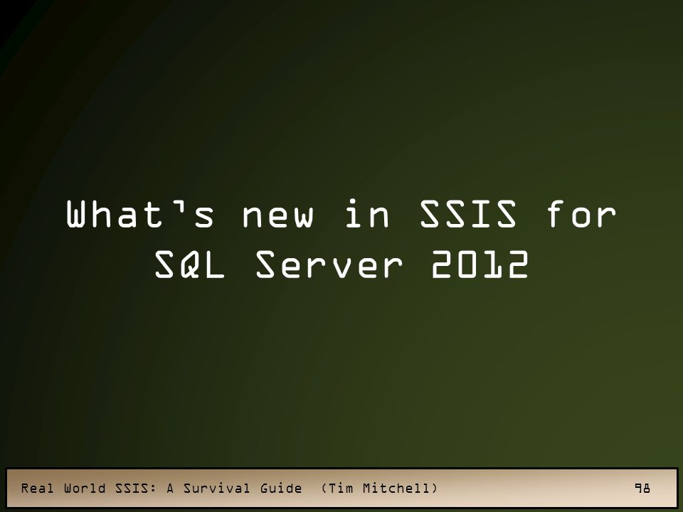What's new in SSIS for SQL Server 2012