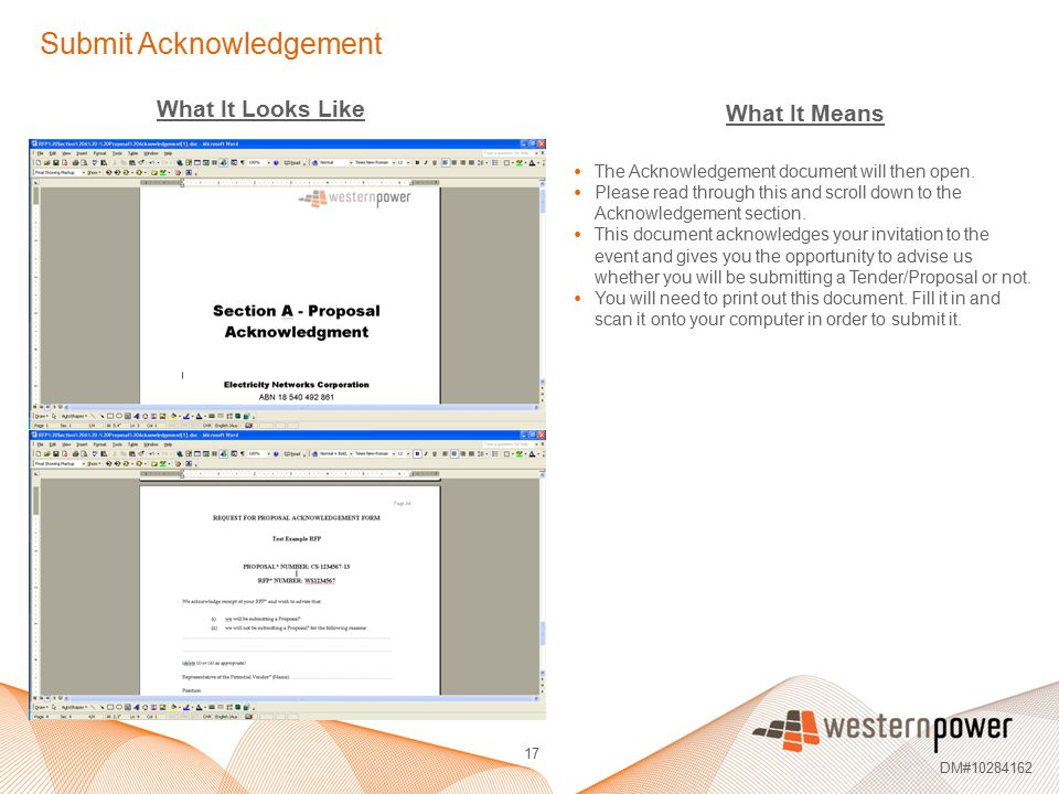 Submit Acknowledgement