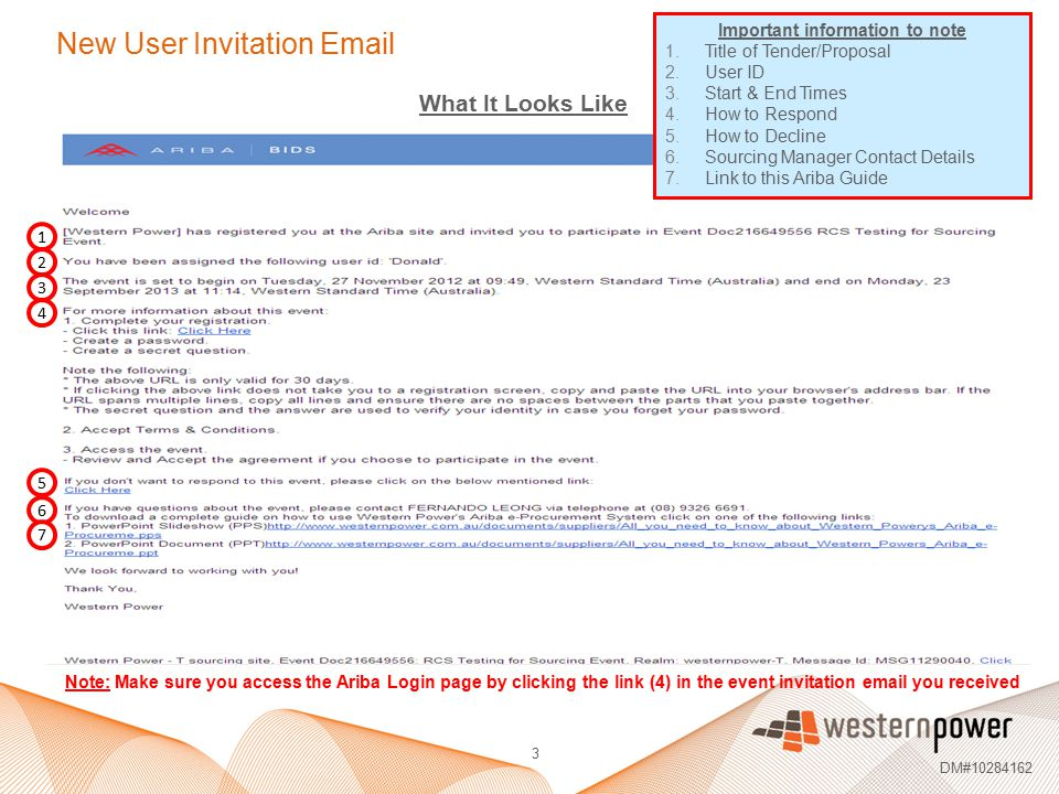 New User Invitation Email
