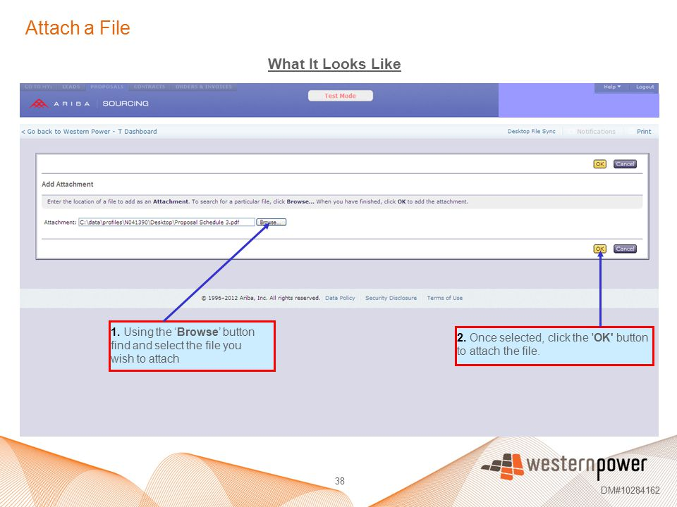 Attach a File What It Looks Like 1. Using the 'Browse' button