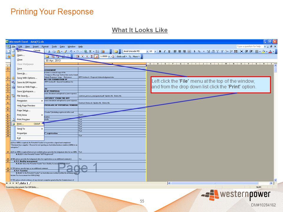 Printing Your Response