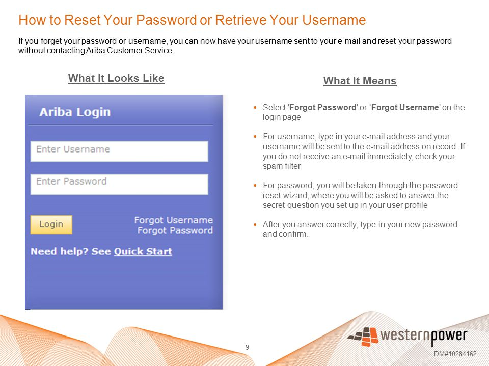How to Reset Your Password or Retrieve Your Username