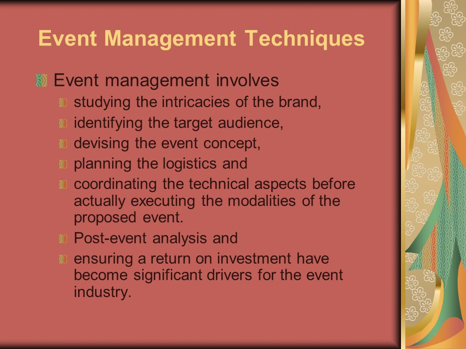 Event Management Techniques