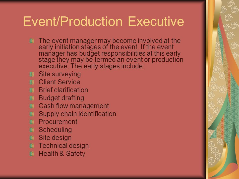 Event/Production Executive