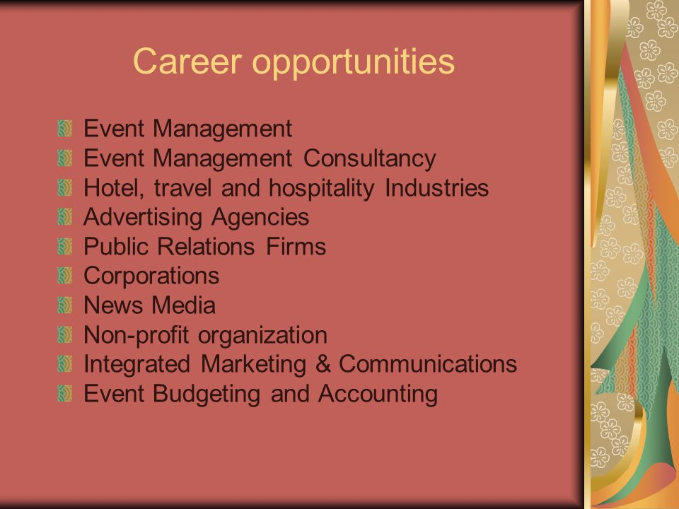 Career opportunities Event Management Event Management Consultancy