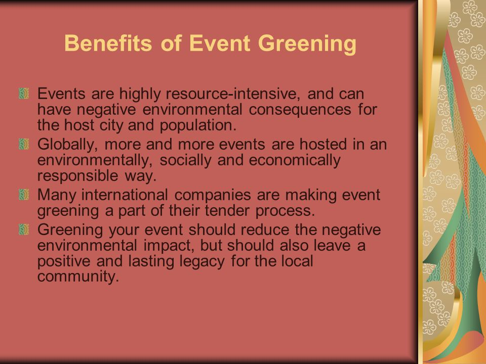 Benefits of Event Greening