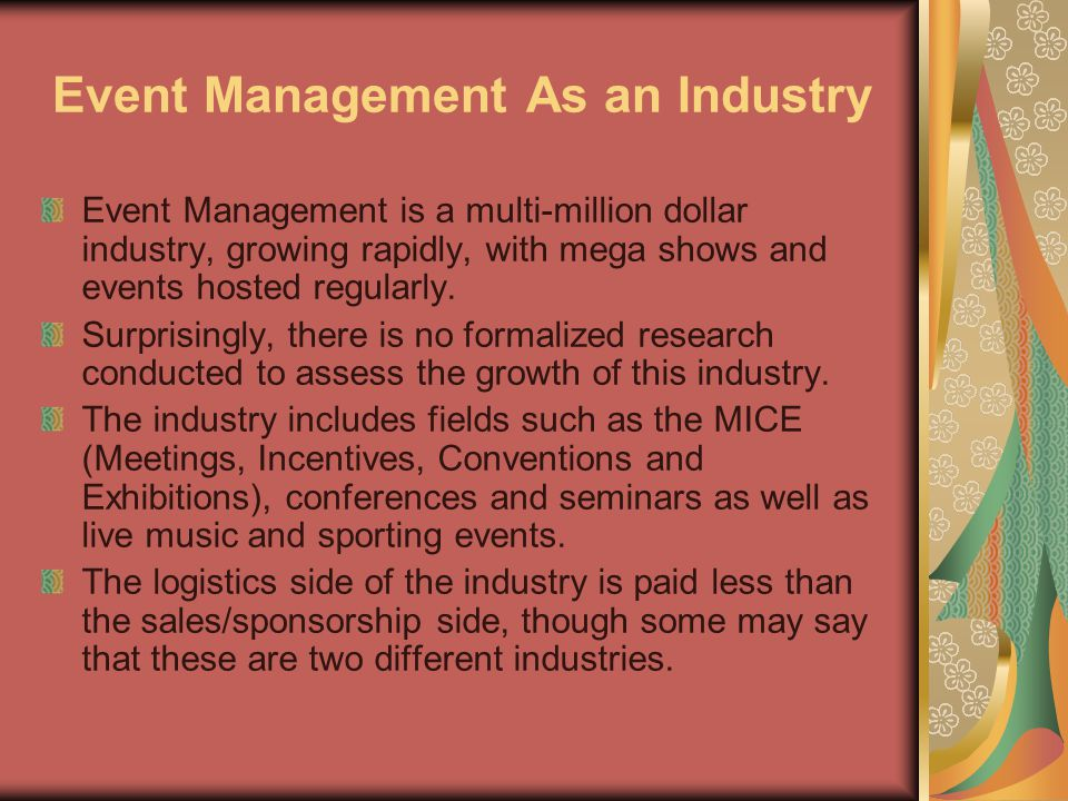 Event Management As an Industry