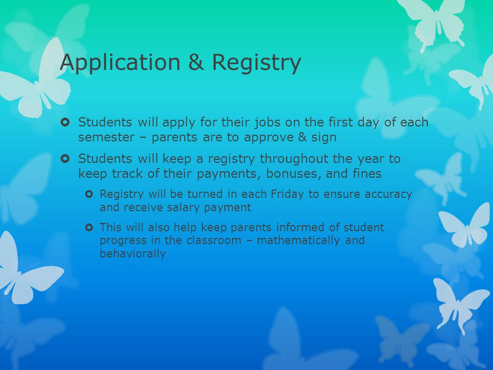 Application & Registry