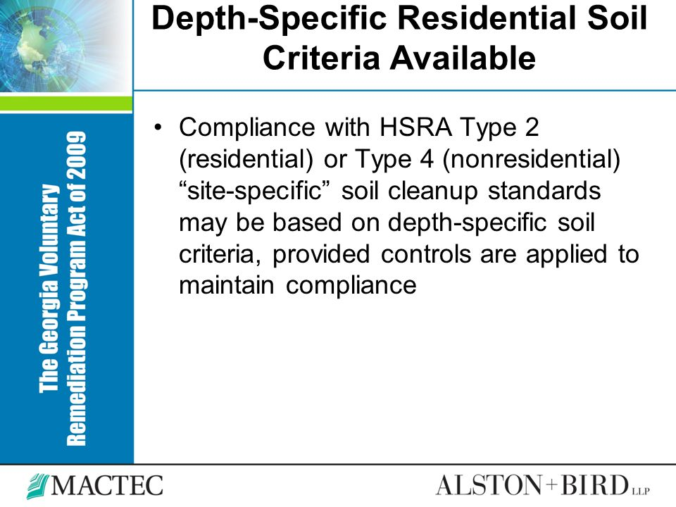 Depth-Specific Residential Soil Criteria Available