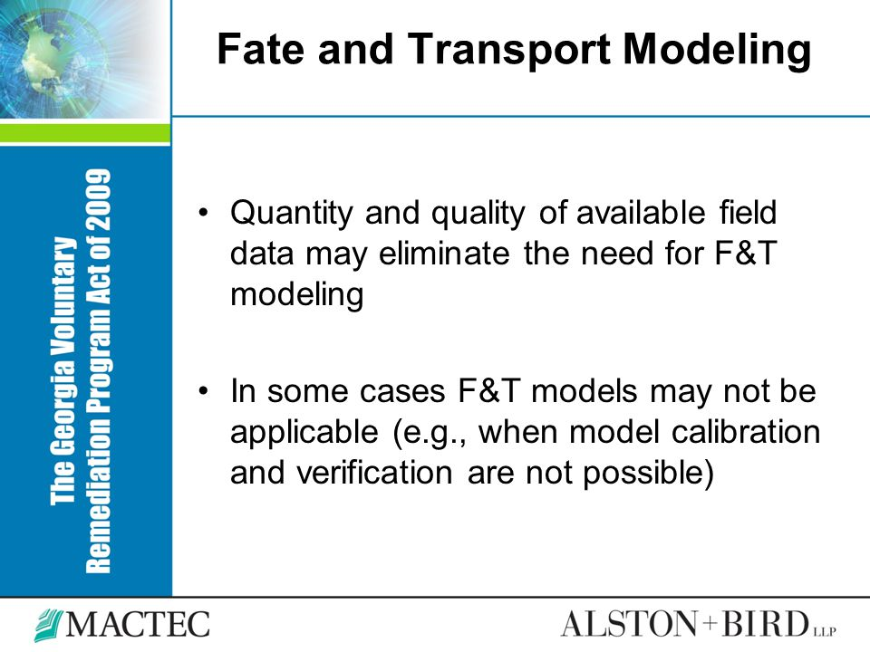 Fate and Transport Modeling