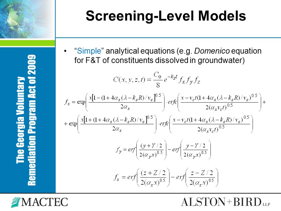 Screening-Level Models