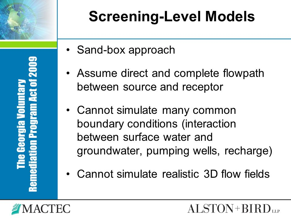 Screening-Level Models