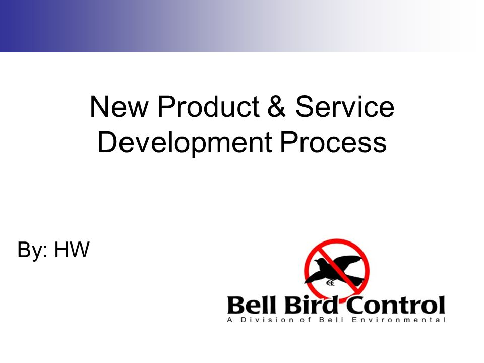 New Product & Service Development Process