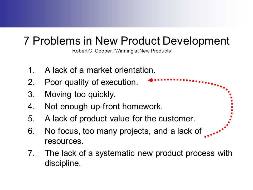 7 Problems in New Product Development