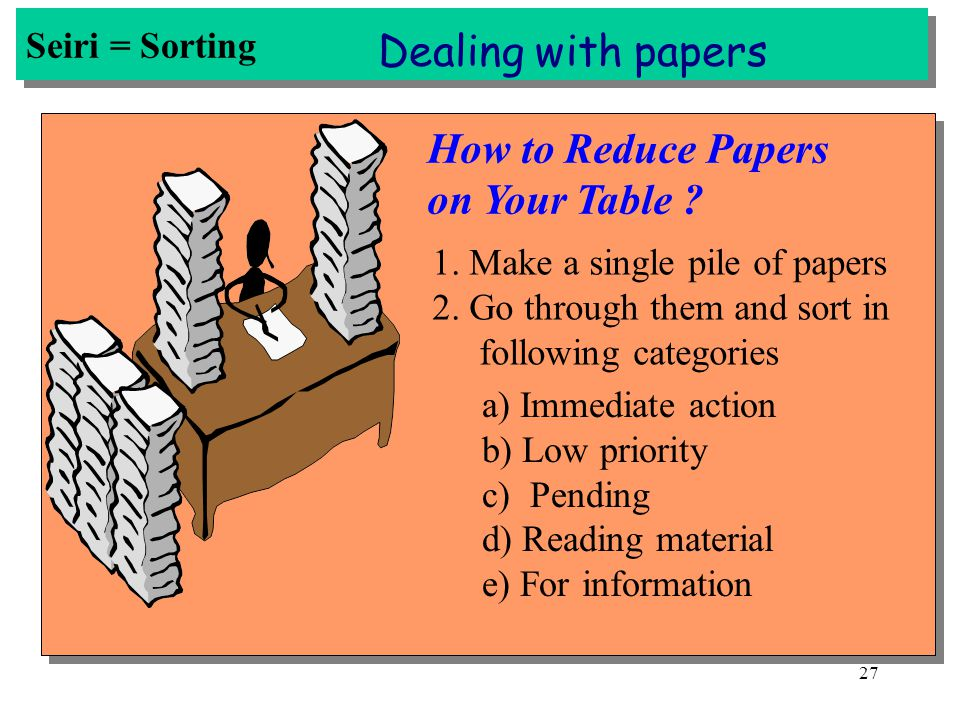 Dealing with papers How to Reduce Papers on Your Table