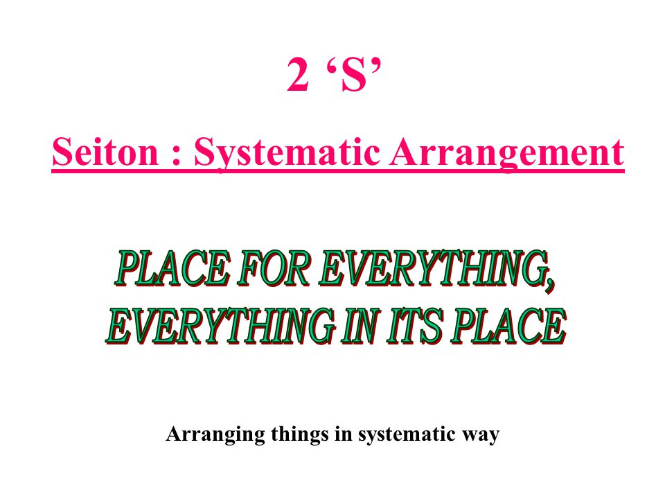 Arranging things in systematic way