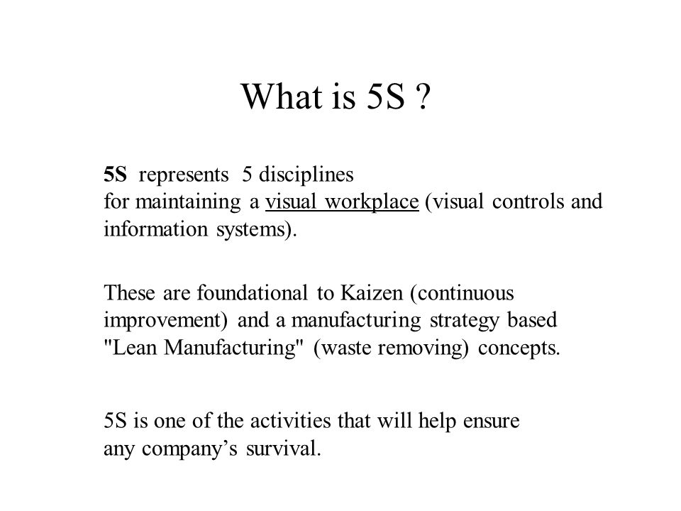 What is 5S