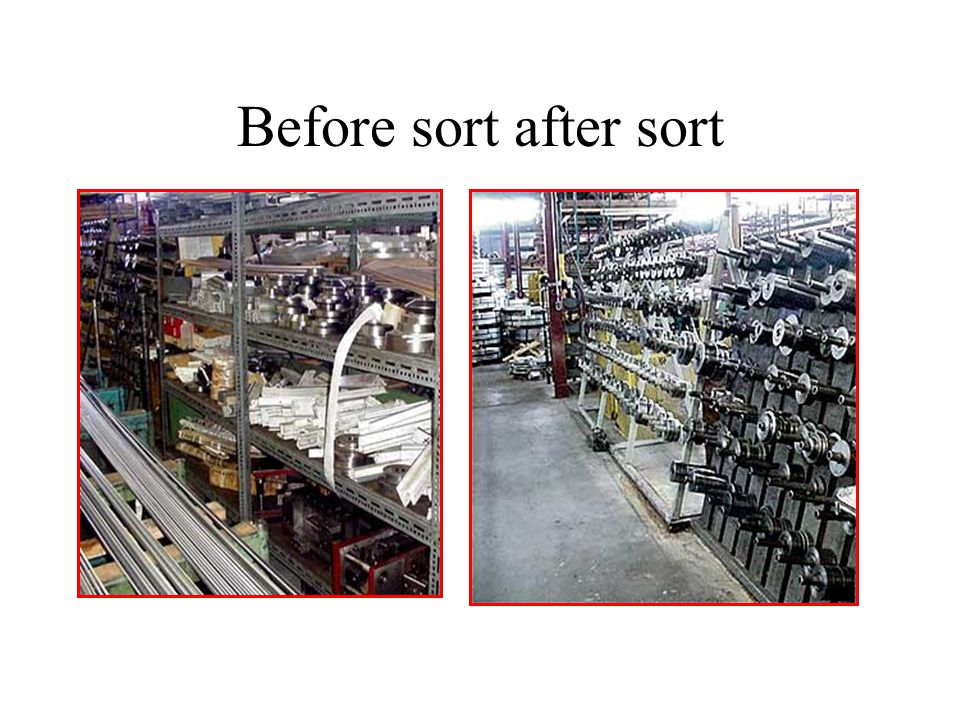 Before sort after sort