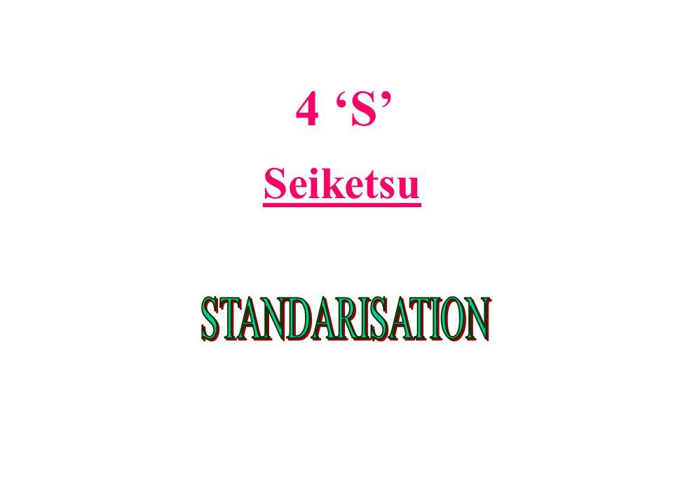 4 'S' Seiketsu STANDARISATION