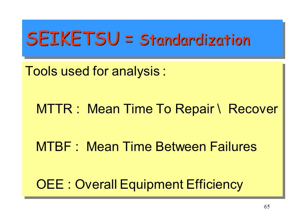 SEIKETSU = Standardization