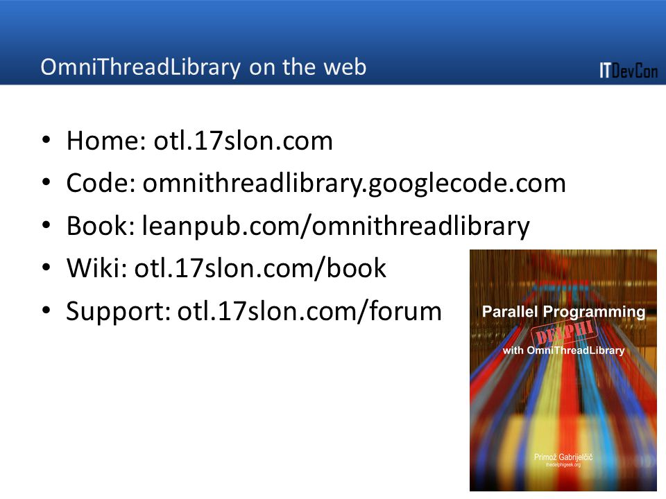 OmniThreadLibrary on the web