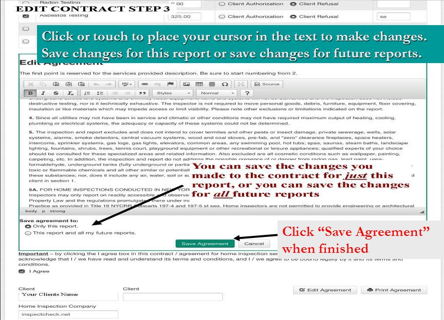 Click or touch to place your cursor in the text to make changes