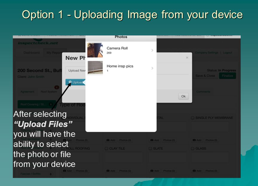 Option 1 - Uploading Image from your device