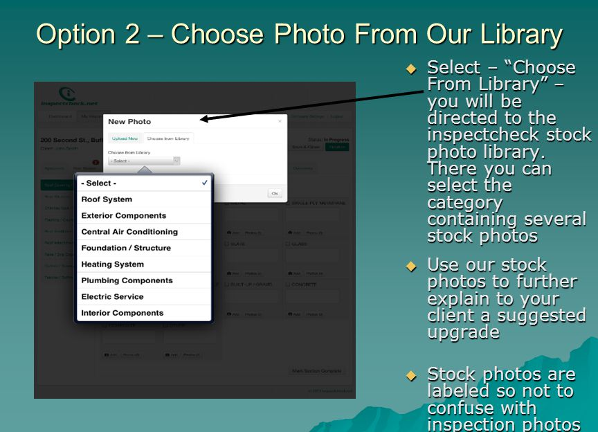 Option 2 – Choose Photo From Our Library