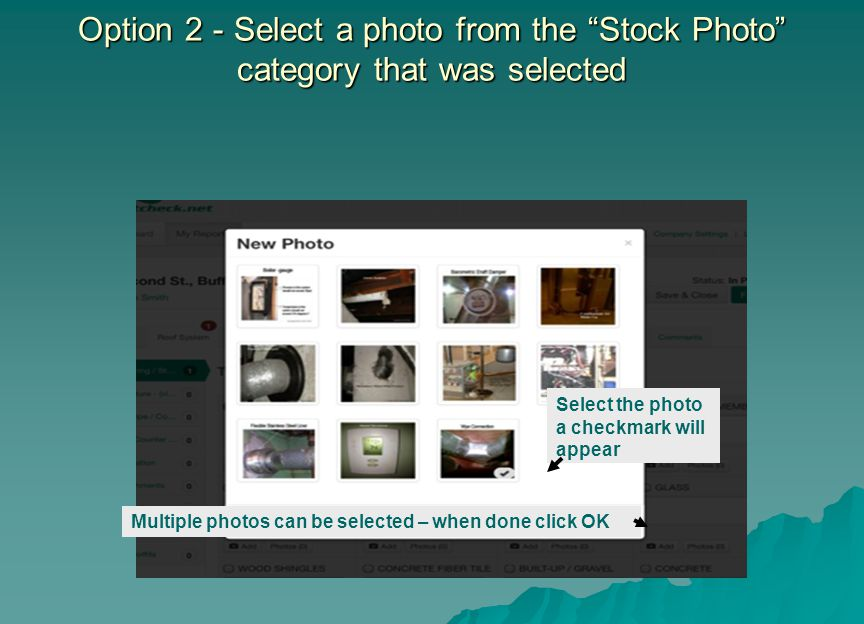 Option 2 - Select a photo from the Stock Photo category that was selected
