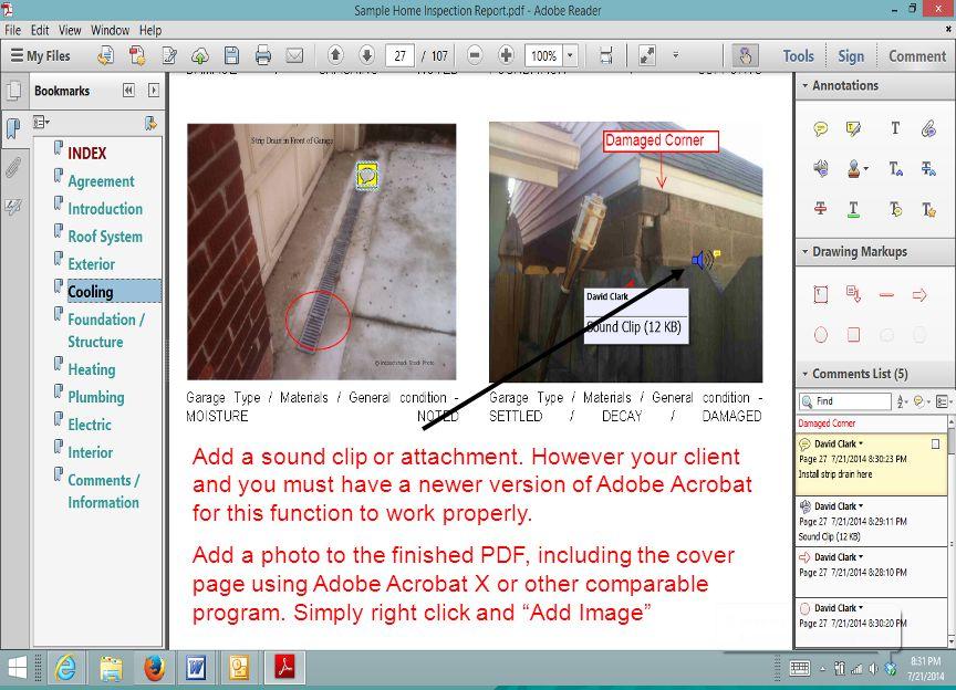 Add a sound clip or attachment