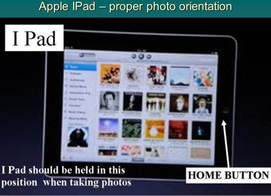 Apple IPad – proper photo orientation