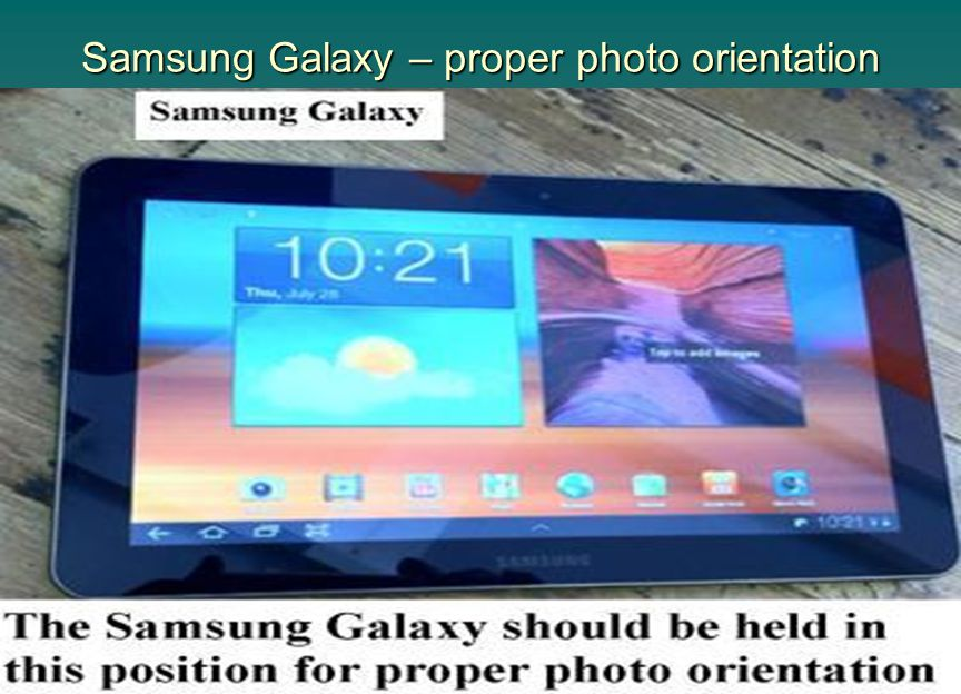 Samsung Galaxy – proper photo orientation