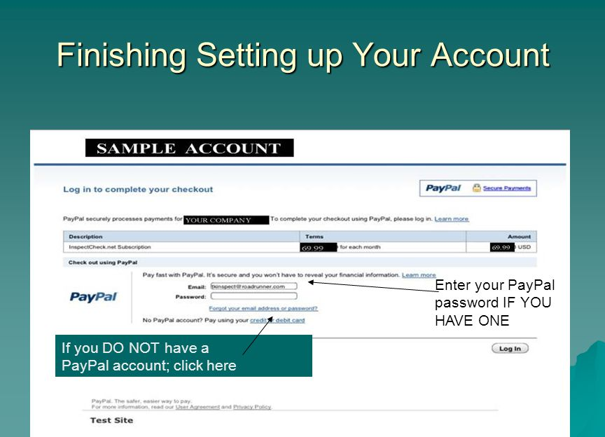 Finishing Setting up Your Account