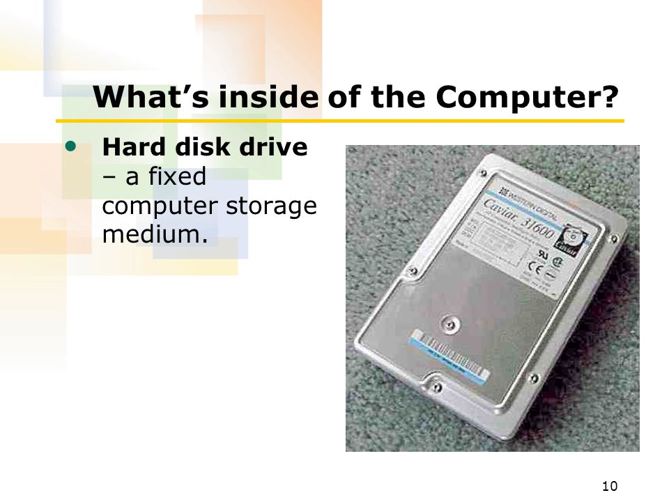 What's inside of the Computer