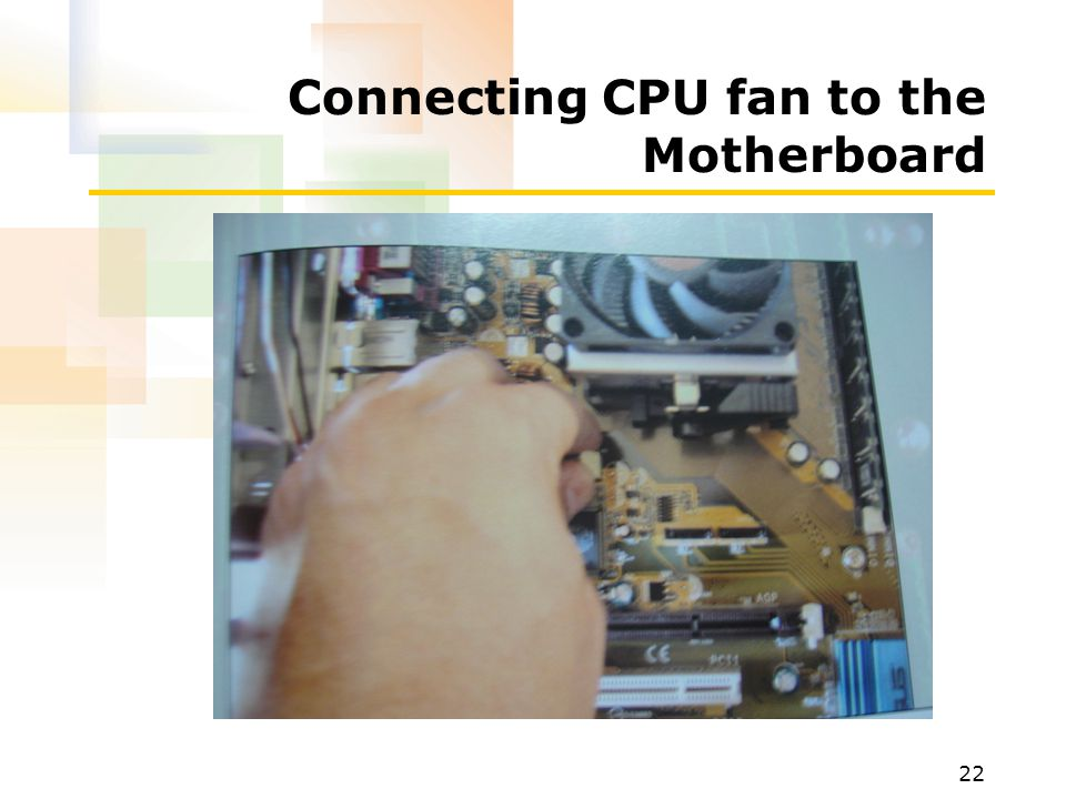 Connecting CPU fan to the Motherboard
