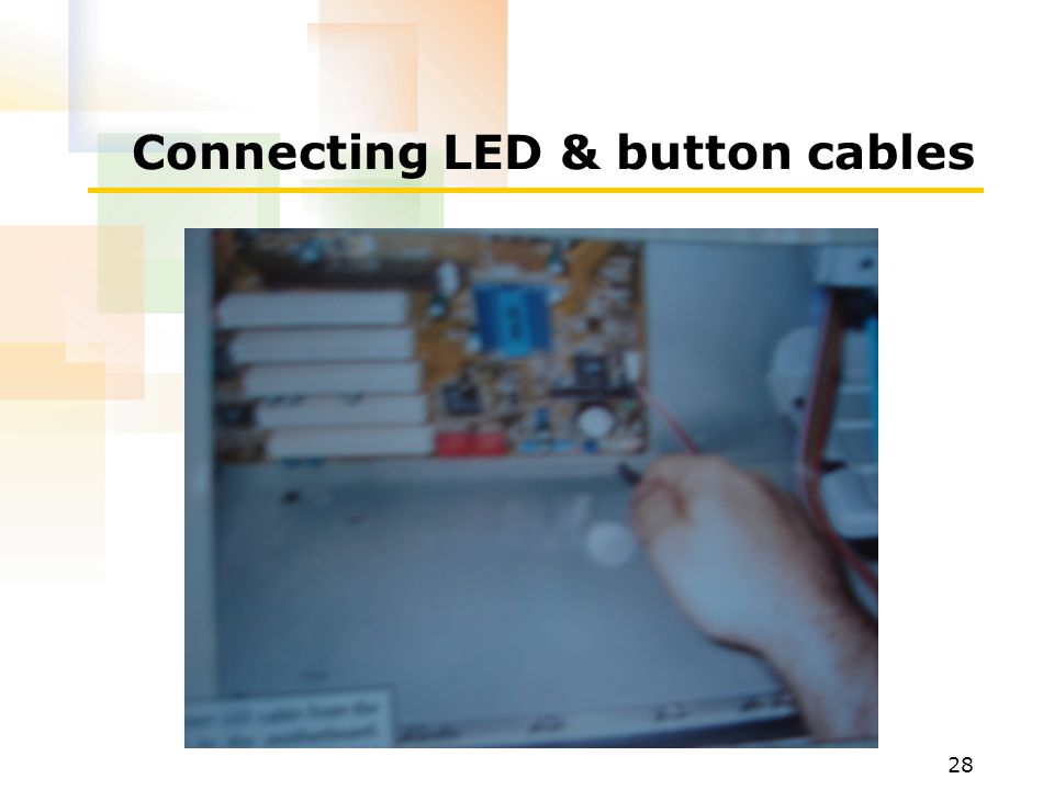 Connecting LED & button cables