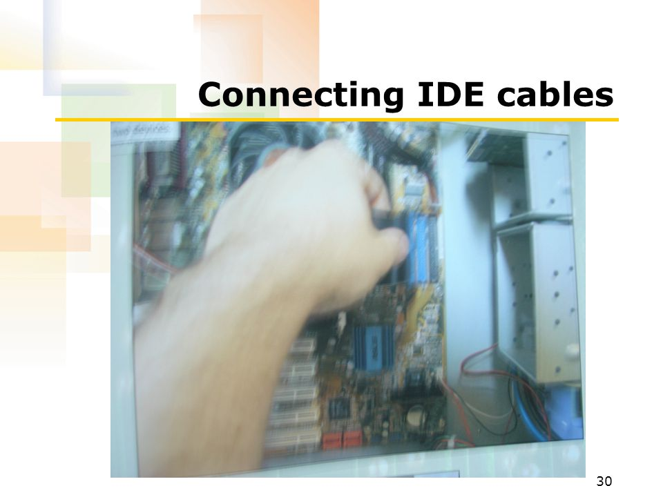 Connecting IDE cables